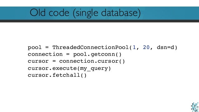 Embarrassingly parallel database calls with Python (PyData