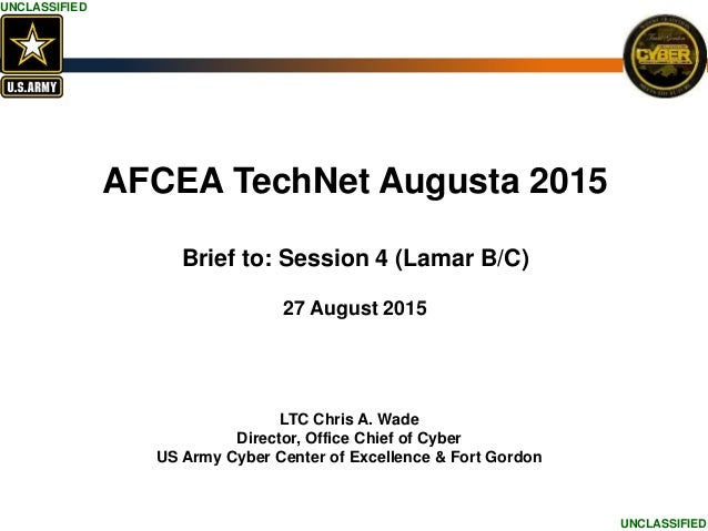 Office Chief of Cyber Personnel Presentation: TechNet