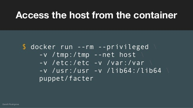 docker rm container