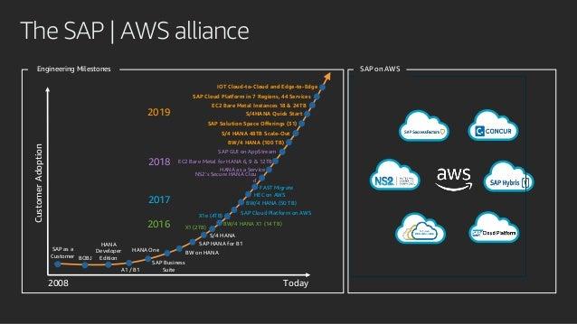 The SAP   AWS allianceCustomerAdoption 2008 SAP as a Customer S/4 HANA SAP Business Suite HANA One HANA Developer Edition ...