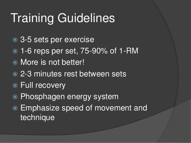 Power Training: Reps For Power Training