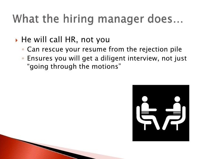 how to call a hiring manager
