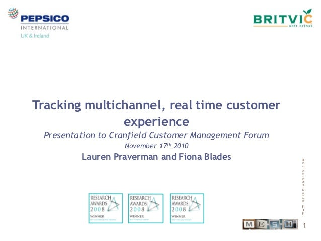 Tracking multichannel, real time customer               experience Presentation to Cranfield Customer Management Forum    ...