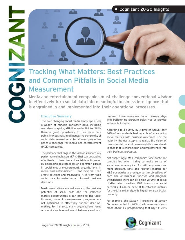 Tracking What Matters: Best Practices and Common Pitfalls in Social Media Measurement Media and entertainment companies mu...