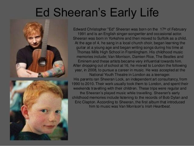 Tracking An Artist Through Their Career -  Ed Sheeran Slide 2
