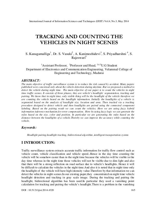 International Journal of Information Sciences and Techniques (IJIST) Vol.4, No.3, May 2014 DOI : 10.5121/ijist.2014.4320 1...