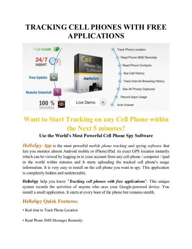 free track minutes for cell phones