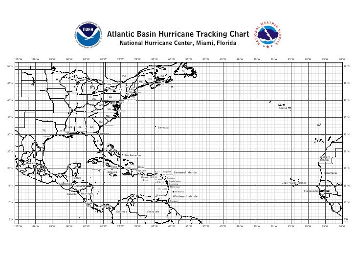 Why Hurricanes Hit the East Coast and Not the West Coast ...  |Atlantic Hurricane Tracking Map