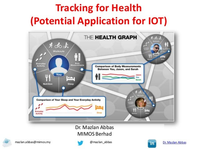 Tracking for Health        (Potential Application for IOT)                        Dr. Mazlan Abbas                        ...