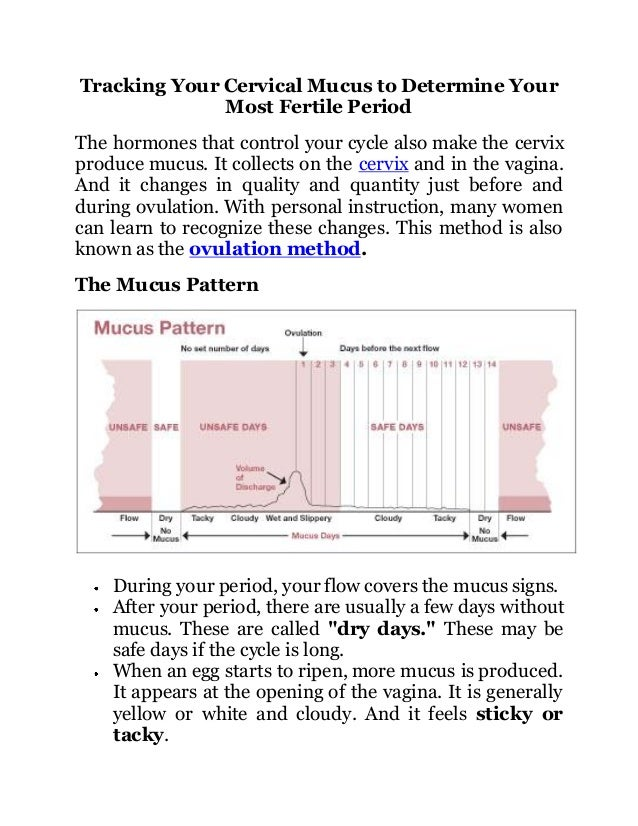 Tracking your cervical mucus to determine your most ...