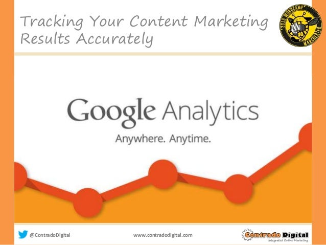 @ContradoDigital www.contradodigital.com Tracking Your Content Marketing Results Accurately