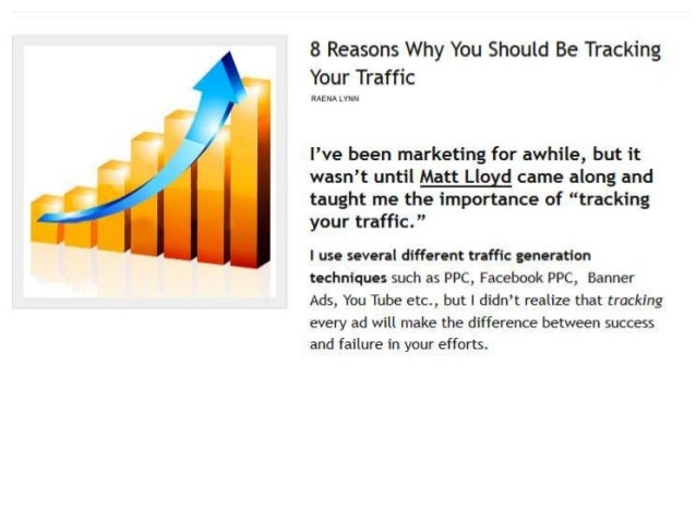 Tracking Your Traffic