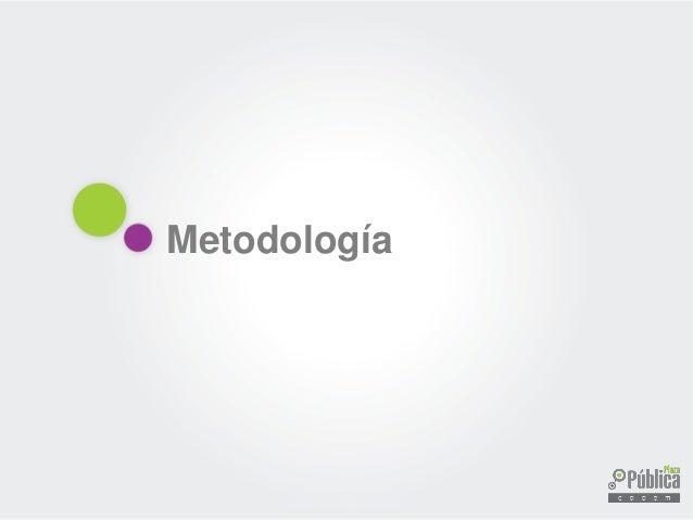 Metodología Técnica : Encuestas Telefónicas con Cati y encuestas Cara a Cara en puntos de afluencia con Capi Universo : Ch...