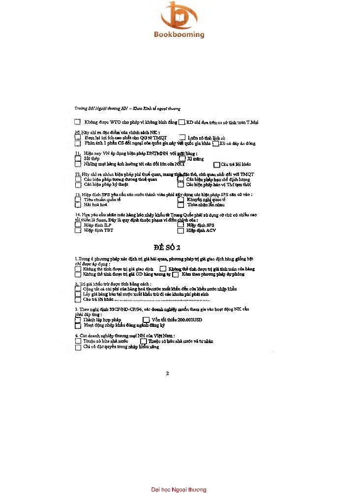 BookboomingTrườngĐHNgoÌỊÌ thươngHN -Khoa Kinh lí ngoại thuongỉ I Không được WTO ch.0 phẻp vi không binh ổẳng n            ...