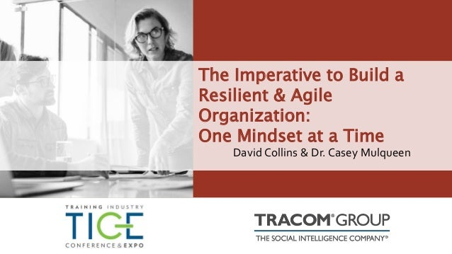The Imperative to Build a Resilient & Agile Organization: One Mindset at a Time David Collins & Dr. Casey Mulqueen
