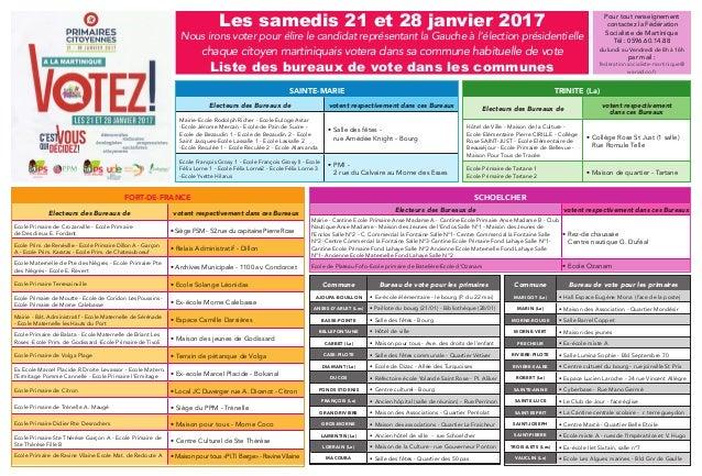 Les samedis 21 et 28 janvier 2017 Nous irons voter pour élire le candidat représentant la Gauche à l'élection présidentiel...