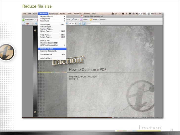 how to optimize pdf file size