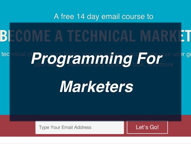 Programming For Marketers