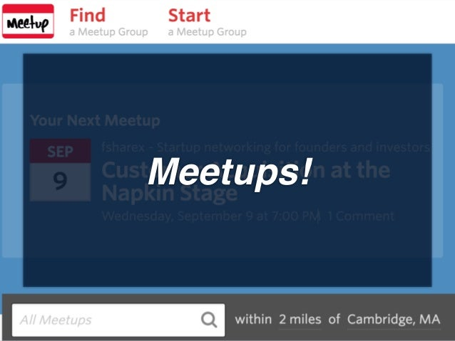 Meetups!