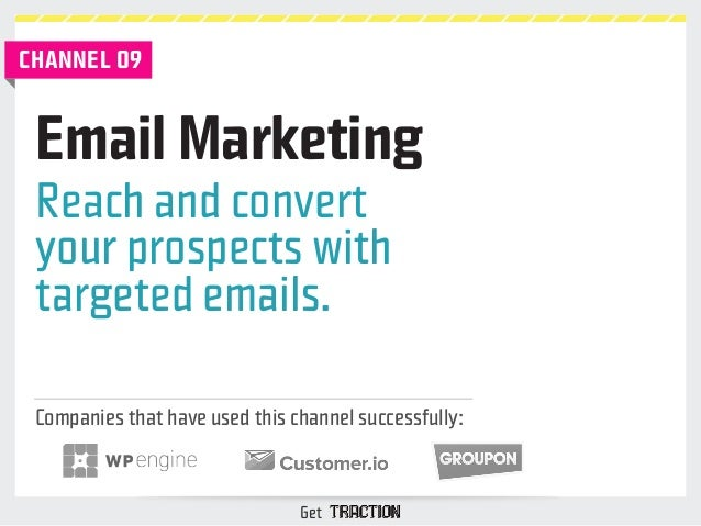 Email Marketing  Reach and convert  your prospects with  targeted emails.  Companies that have used this channel successfu...
