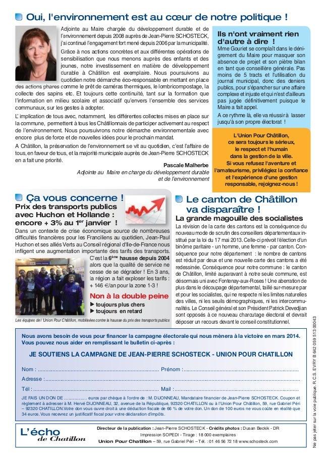 Tract de campagne - janvier 2014 Slide 2