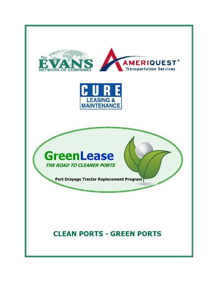 CLEAN PORTS - GREEN PORTS