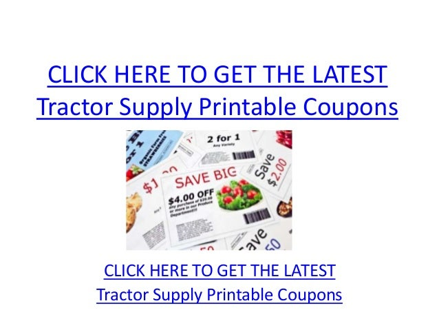 Tractor Supply Printable Coupons Tractor Supply Printable