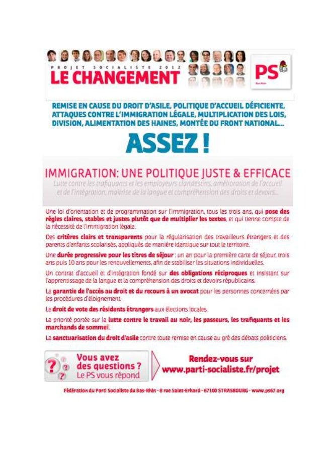 Tracts politiques immigration