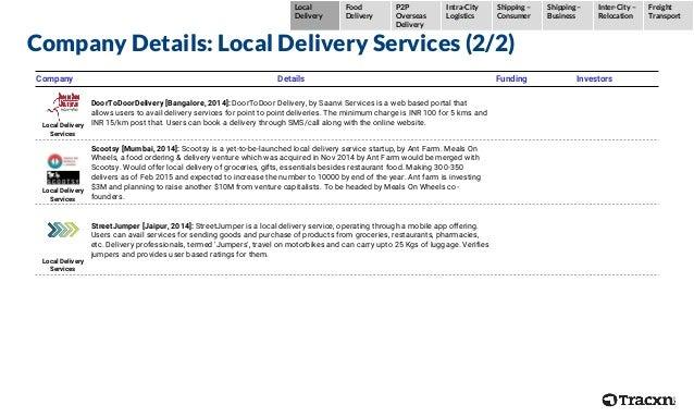 Company Details: Local Delivery Services (2/2) Company Details Funding Investors Local Delivery Services DoorToDoorDeliver...