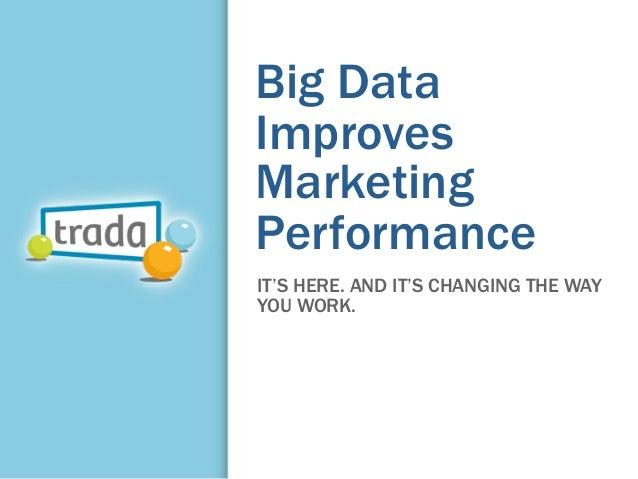 Big DataImprovesMarketingPerformanceIT'S HERE. AND IT'S CHANGING THE WAYYOU WORK.