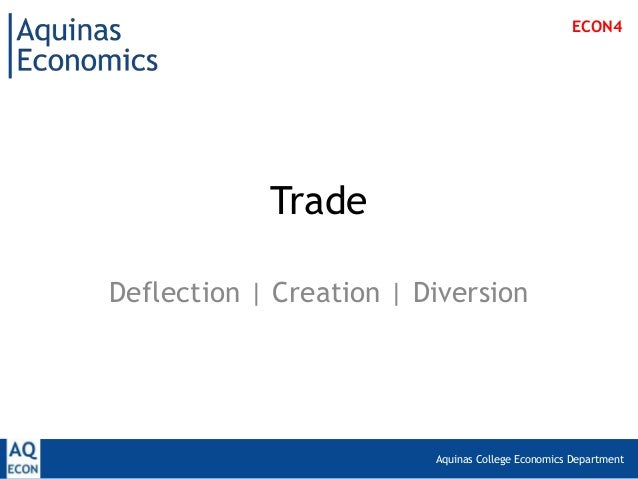 ECON4            TradeDeflection | Creation | Diversion                         Aquinas College Economics Department