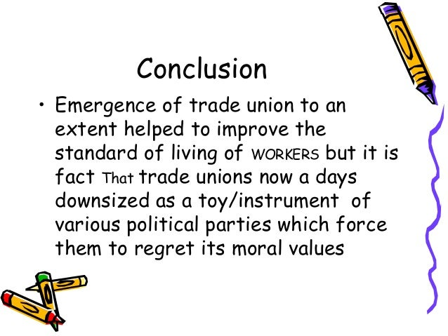 conclusion of trade union