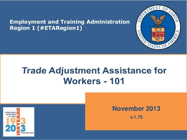 Employment and Training Administration Region 1 (#ETARegion1)  November 2013 v.1.75