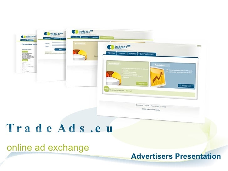 TradeAds.eu  online ad exchange Advertisers Presentation