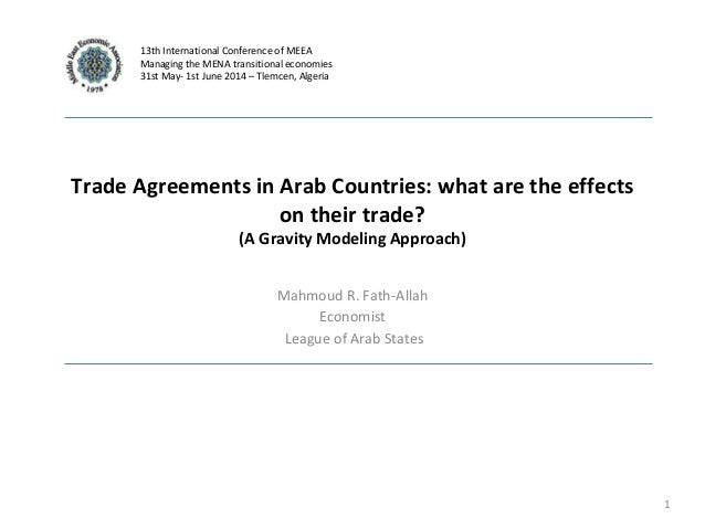 Trade Agreements In Arab Countries