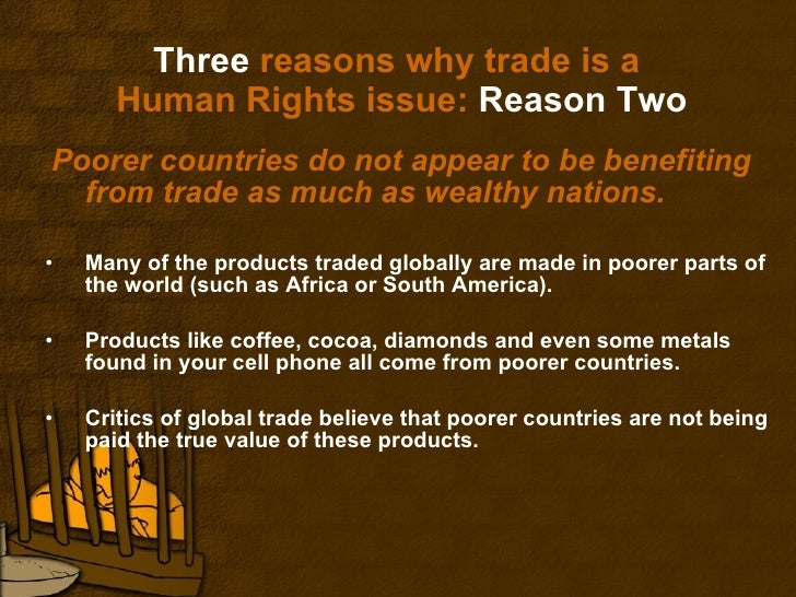 Free Trade Fair Trade And Human Rights
