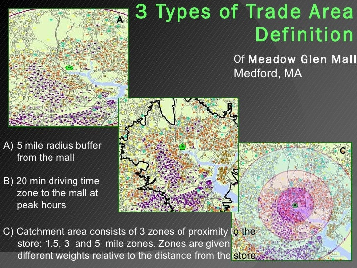 Types of Trade Area Definitions