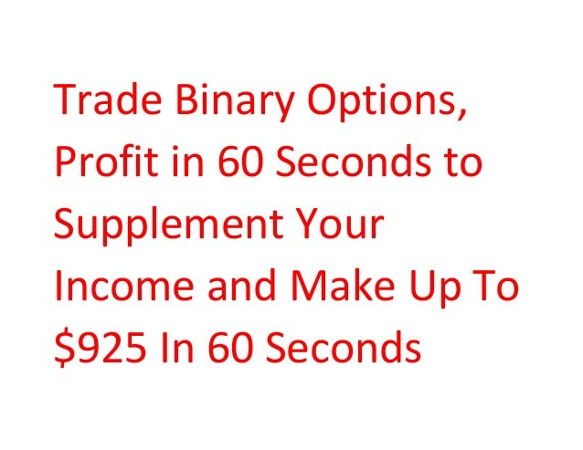 Trading binary options for income