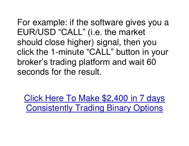 Profit in 60 seconds binary trading signals