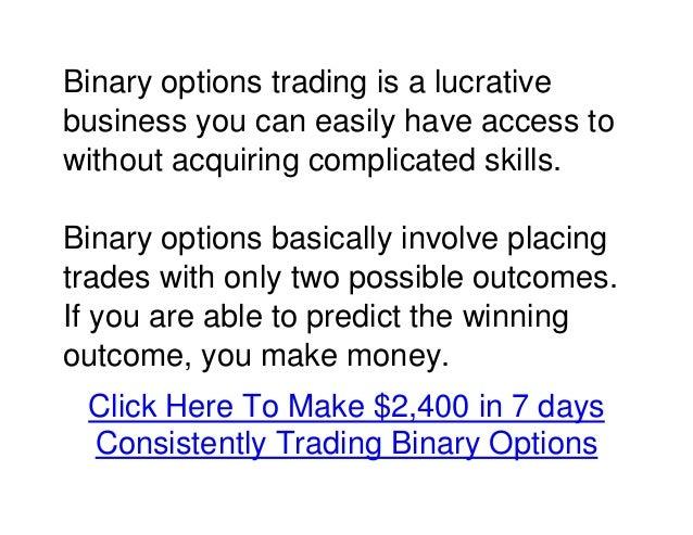 Binary options tips and tricks