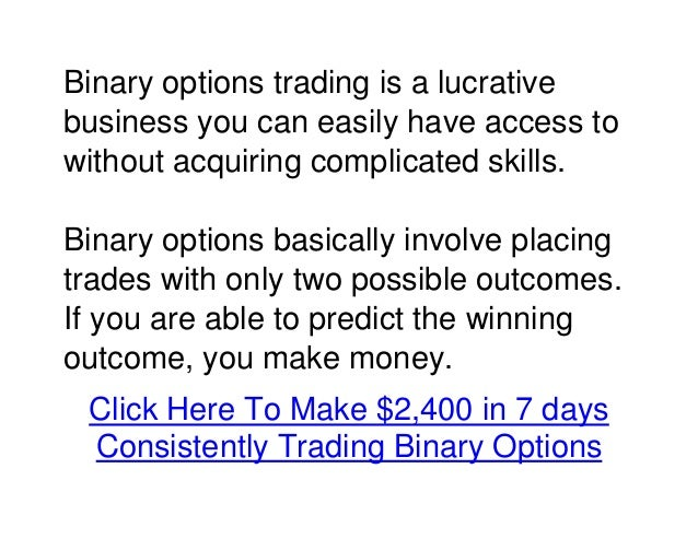 Binary options profit