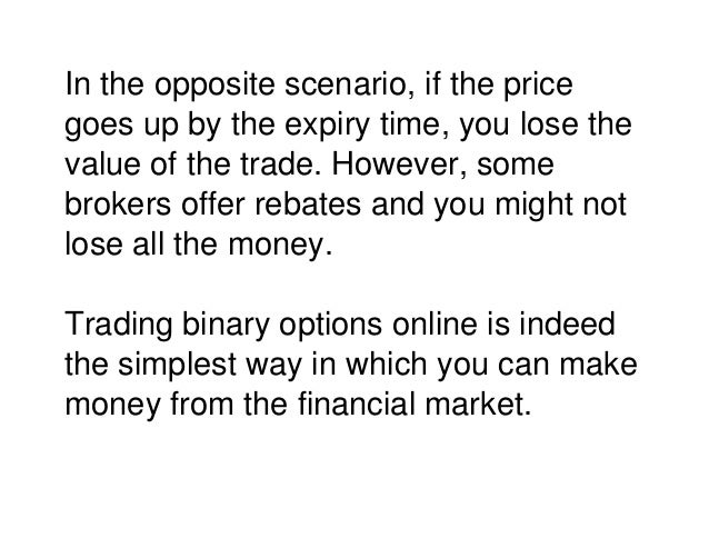 How do you make money with binary options