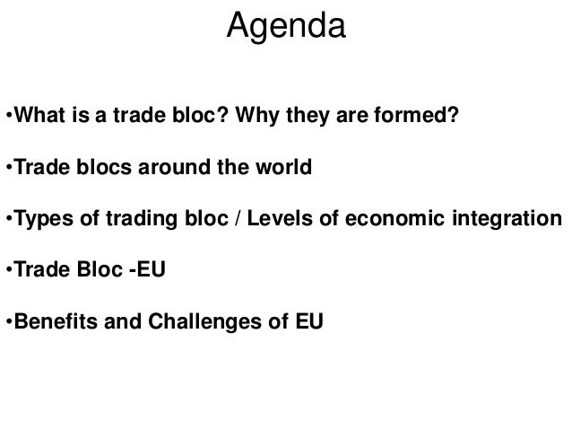 international trade and economic bloc International trade flows, they have not yet been successfully used in  krugman  (1991) goes further and argues that the three trading blocs are welfare.