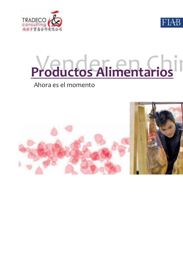 Vender en ChinaProductos AlimentariosAhora es el momento