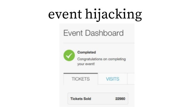 event hijacking
