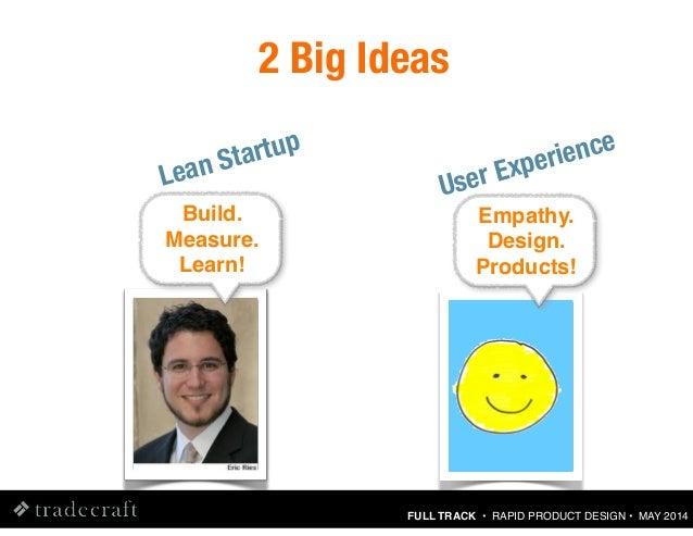 Rapid Product Design Using Lean UX Methods [Tradecraft : May 2014] Slide 19
