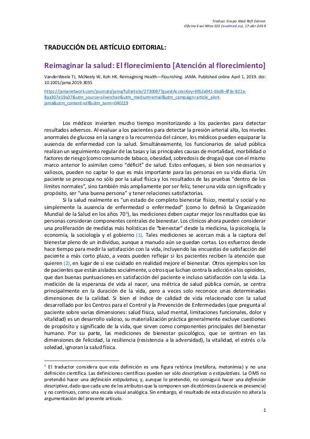 Traducc Grupo Med Refl Extrem Oficina Eval Mtos SES (evalmed.es), 17-abr-2019 1 TRADUCCIÓN DEL ARTÍCULO EDITORIAL: Reimagi...