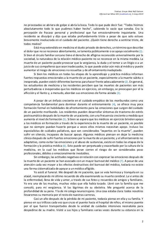 Traducc Grupo Med Refl Extrem Oficina Eval Mtos SES (evalmed.es), 5-may-2019 2 no procesadas se abriera de golpe si abría ...