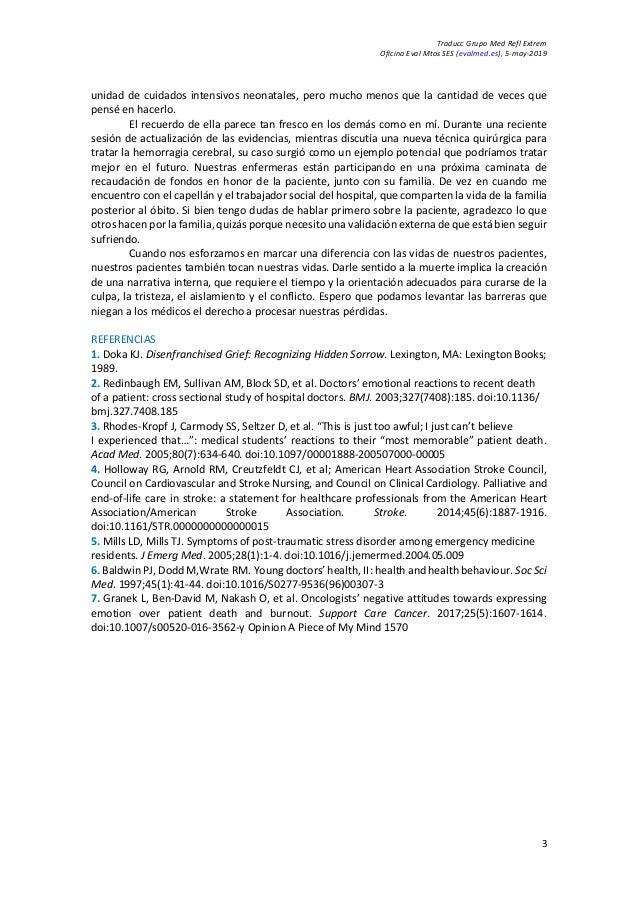 Traducc Grupo Med Refl Extrem Oficina Eval Mtos SES (evalmed.es), 5-may-2019 3 unidad de cuidados intensivos neonatales, p...