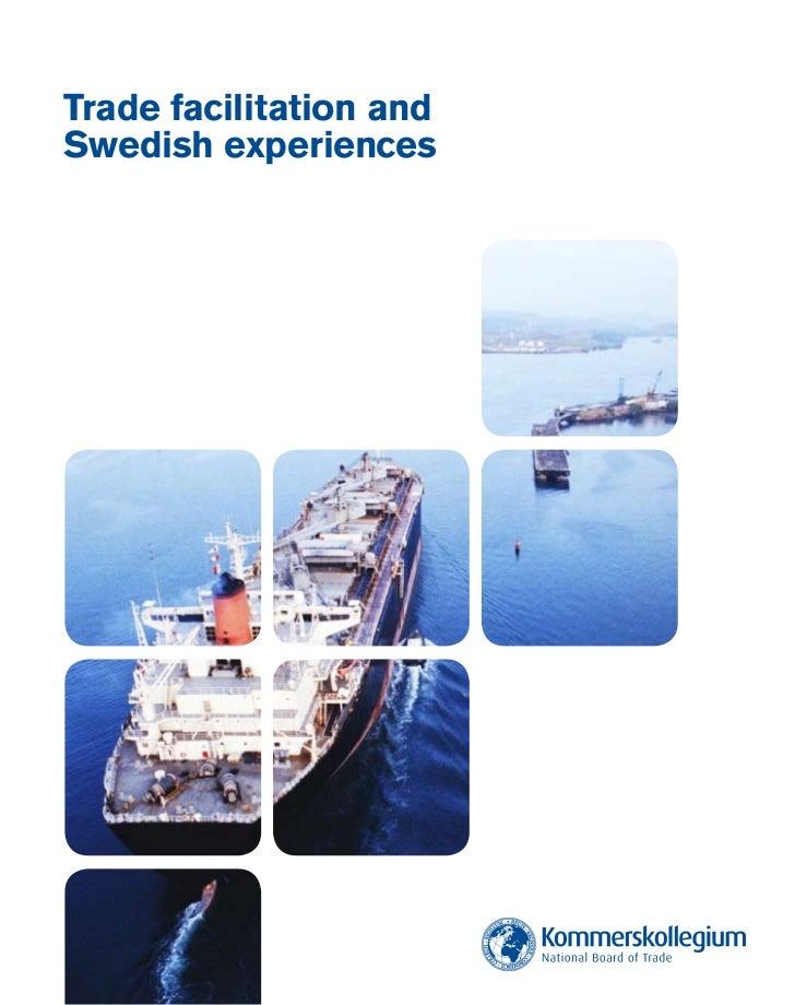 Trade facilitation andSwedish experiences
